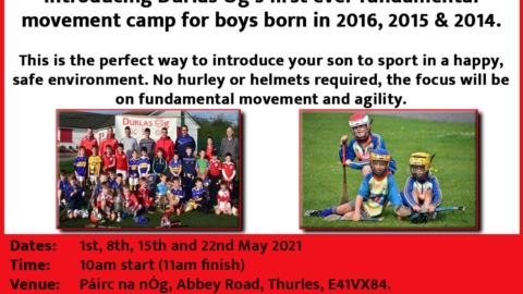 Introducing Durlas Og first ever Fundamental Movement camp for academy players