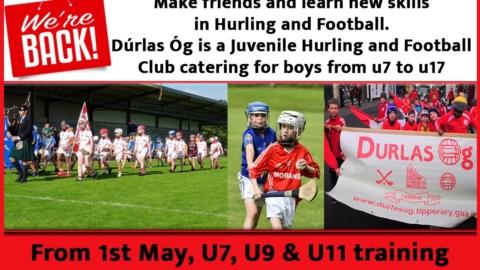 Were back!!! U7, U9 & U11 training every Saturday morning at 10amfrom 1st May 2021.