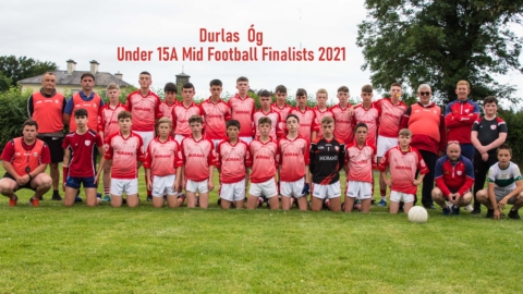 U15A Mid Football finalists