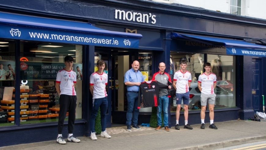 Moran's Menswear announce continued sponsorship of Durlas Óg